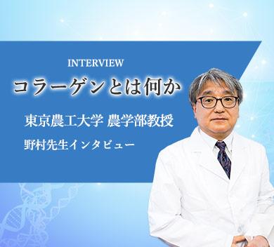 野村先生インタビュー「コラーゲンとは何か」