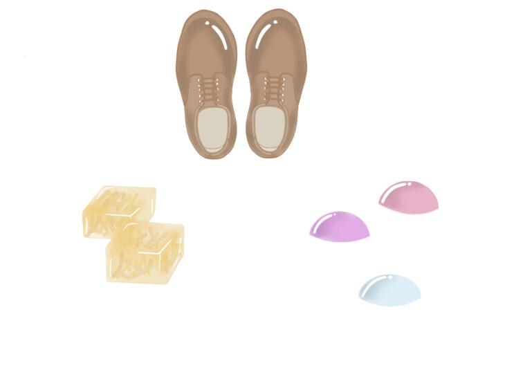 グミ、革靴
